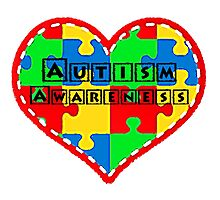 Autism awareness, supporting Autism. Photographic Print