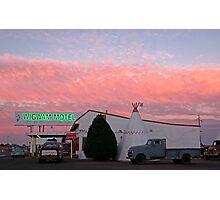 Nostalgic Motel Under Arizona Sunset Photographic Print