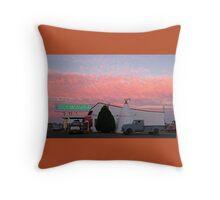 Nostalgic Motel Under Arizona Sunset Throw Pillow