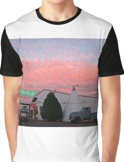 Nostalgic Motel Under Arizona Sunset Graphic T-Shirt