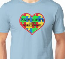 Autistic and awesome <3 I support autism. Unisex T-Shirt