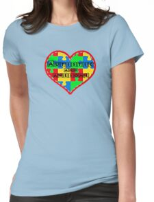 Autistic and awesome <3 I support autism. Womens Fitted T-Shirt