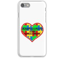 Autistic and awesome <3 I support autism. iPhone Case/Skin