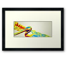 The Pelican Has Been Briefed Framed Print