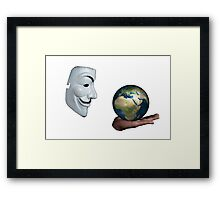 Anonymous - Keeper of the World Framed Print