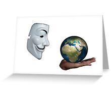 Anonymous - Keeper of the World Greeting Card