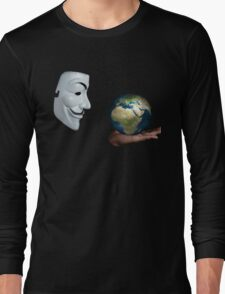 Anonymous - Keeper of the World Long Sleeve T-Shirt