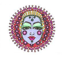 Mandala Face Bejeweled Blond Photographic Print