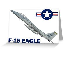 F-15C Eagle 94th Fighter Squadron USAF Greeting Card