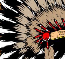 Iroquois war bannet Sticker