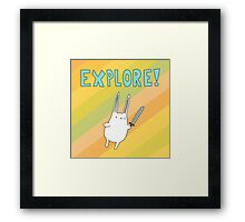 Explore Bunny Framed Print