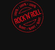 100% Rock 'n' Roll Stamp (Red) Women's Fitted Scoop T-Shirt