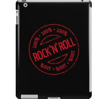 100% Rock 'n' Roll Stamp (Red) iPad Case/Skin