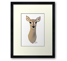 The Deer - Bust Framed Print