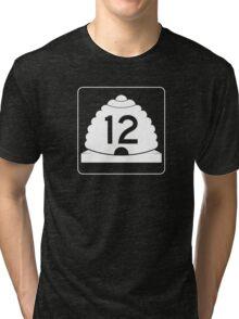 Utah State Route 12 Sign, USA Tri-blend T-Shirt