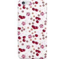 Cherry lollipops, candy and chewing gum seamless pattern background texture iPhone Case/Skin