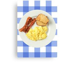 Breakfast Foods Canvas Print