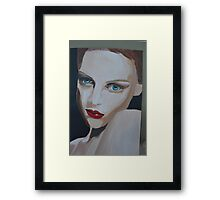 Painting of Woman/ Blue Eyed Charmer Framed Print