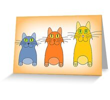 Three Little Cats Greeting Card