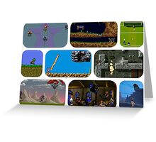 Commodore Amiga Games Greeting Card