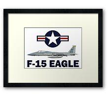 F-15 Eagle Profile USAF Framed Print