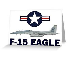 F-15 Eagle Profile USAF Greeting Card