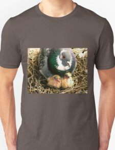 Parent pigeon and hatchlings  T-Shirt