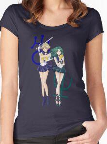 Sailor Uranus & Neptune Crystal III Women's Fitted Scoop T-Shirt