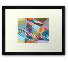 Fly Away -- abstract art Framed Print