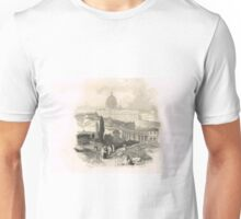 Small procession above St Peter's, Rome in the 19th Century Unisex T-Shirt