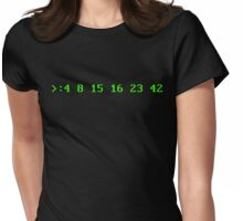 Hurley's Numbers - DOS Font Womens Fitted T-Shirt