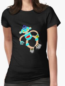 Robot T Womens Fitted T-Shirt