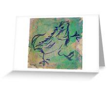 Dancing Iguana Greeting Card