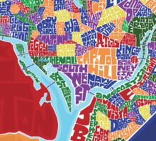 Washington DC Neighborhoods Map Sticker