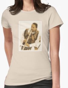 """""""Native American Indian on Flute""""... prints and products Womens Fitted T-Shirt"""