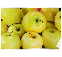 Yellow apples Poster
