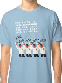 Retro style funny barber shop quartet song contest Classic T-Shirt