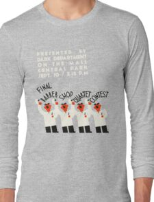 Retro style funny barber shop quartet song contest Long Sleeve T-Shirt