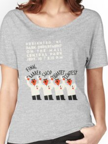 Retro style funny barber shop quartet song contest Women's Relaxed Fit T-Shirt