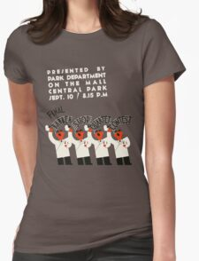 Retro style funny barber shop quartet song contest Womens Fitted T-Shirt