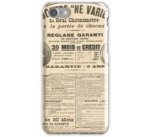 1900 French advert Best Watch in the World  iPhone Case/Skin