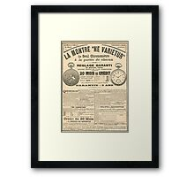 1900 French advert Best Watch in the World  Framed Print