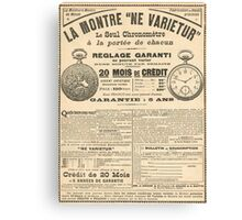 1900 French advert Best Watch in the World  Canvas Print