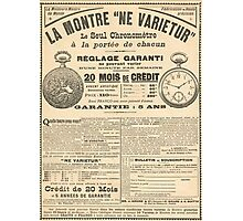 1900 French advert Best Watch in the World  Photographic Print