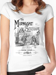 The Midnight Serenade Women's Fitted Scoop T-Shirt