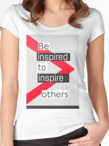 Be inspired to inspire others Modeca vers Women's Fitted Scoop T-Shirt