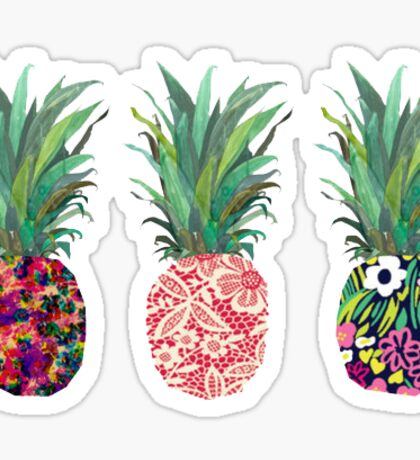 Pretty Pineapple Stickers Sticker
