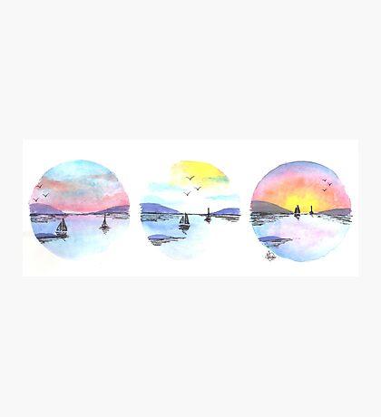 Triple Seascape Photographic Print