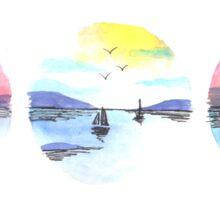 Triple Seascape Sticker