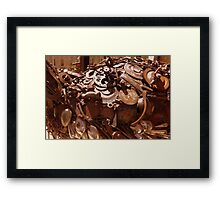Rusty sculpture Framed Print